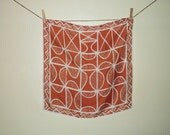 VERA Designer Vintage ORANGE SLICE Silk Scarf
