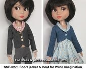 STRAIGHTFORWARD Sewing Pattern PDF- SSP-027: The little summer/Autumn coat for Tonner Patience, Marley Wentworth & Agnes Dreary.