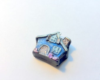 Fairy Tale Cottage Handmade Polymer Clay Focal Bead or Pendant
