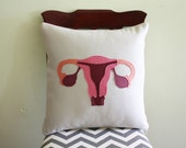 Science Diagram Pillow - Uterus // Obstetrician // Doctor // OB-GYN // Gynecologist // Ovaries // Fertility // Medical // Pregnant