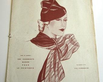Vintage French Magazine Mode Pratique February, 1935 Fashion Sewing and Knitting Patterns