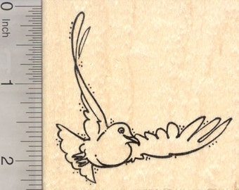 White Dove Rubber Stamp, Symbol of Peace and of Love K28528