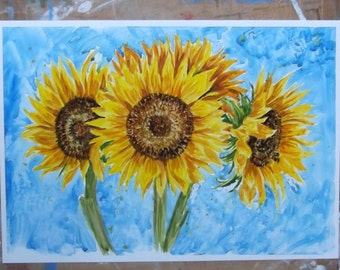 Sunflowers - Original Painting