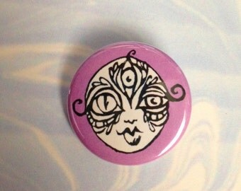Lucid Rose Third Eye Goddess pin