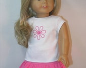 DM2 -- 18 Inch Doll Clothes Skirt and T-shirt