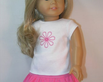 1754 - 18 Inch Doll Clothes Skirt and T-shirt