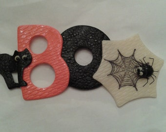 BOO Halloween Magnetic Sign