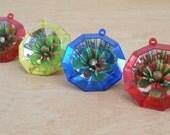 Vintage Yule Gems by Bradford • 1960s Christmas Ornaments • Made in Hong Kong Christmas
