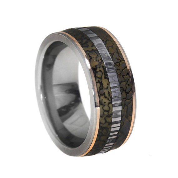 dinosaur bone wedding ring items similar to dinosaur bone ring with 14k gold 3550