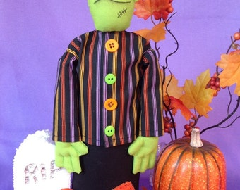 Cloth Doll E-Pattern 11inch Frankenstein Monster