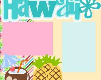Hawaii 2 Page 12X12 Scrapbook Page Kit or Premade Layout