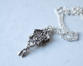 Tiny Cuckoo Clock Necklace - SALE! -