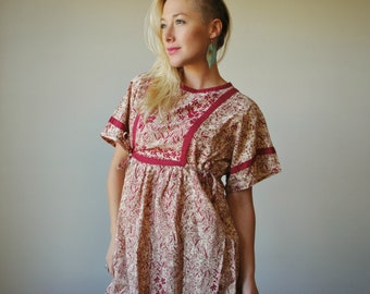 1980s Thailand Song Dress~Size Extra Small to Medium