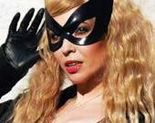 Catwoman cosplay leather mask - Seduce - Made to Order