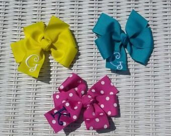 Hair Bow - Monogram - Monogrammed - Hair Bow -  Monogram - Monogrammed  Personalized -  Monogrammed Gift - Personalized Bow