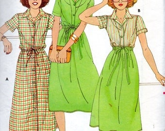 Butterick 5989 1970s WILLI SMITH  Misses Dress Shirt  and Wrap Skirt  Pattern Womens Vintage Sewing Pattern  Size 8 Bust  31 UNCUT