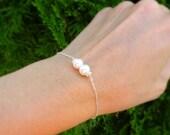 Simple Pearl Bracelet, sterling silver, Bridesmaid gifts, Bridesmaid bracelets, Bridal jewelry, real pearls, otis b jewelry, brigusygirls