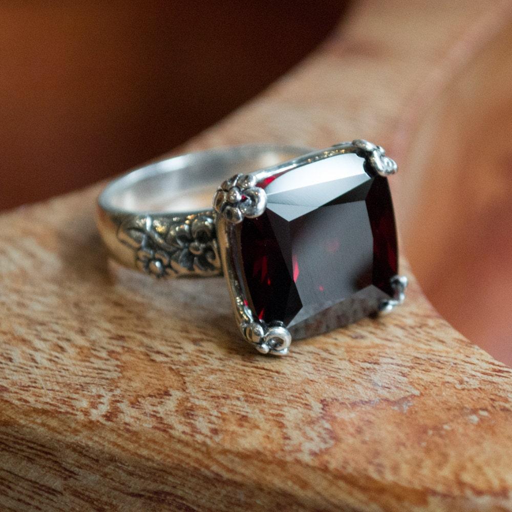 floral silver ring alternative engagement ring statement. Black Bedroom Furniture Sets. Home Design Ideas