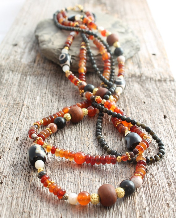 Carnelian Multistrand Necklace
