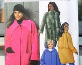 Butterick 4671 - Classy Plus Size Ladies' Coats in 3 Styles - Jackets - Warm - Fleece - Denim - Size 26W, 28W, 30W, 32W - UNCUT
