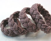 rope bracelet terra cotta taupe brown cotton turks head knot bracelet nautical sailor bracelet rope jewelry 3638