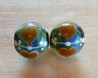 Destash - Pair of Pixie Willow Glass Beads