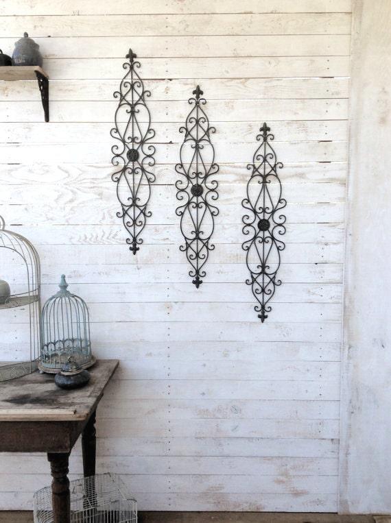 metal wall decor scroll wall decor spanish style decor iron decor wall hanging metal wall. Black Bedroom Furniture Sets. Home Design Ideas