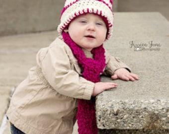 Crochet Hat/Crochet Baby Hat/Toddler Hat/Handmade inUSA/ScarfandHat/Beanie and Scarf/Crochet/Handmade/ready to ship/crochet infant hat