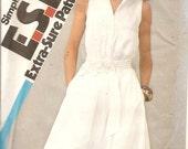 1980's Sewing Pattern Dress Sleeveless Summer Dress Simplicity 5690 UNCUT