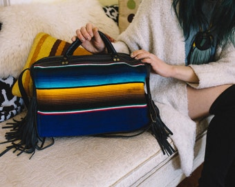Handcrafted Dylan Leather Duffel Overnight Bag by Bird Trouble in Chicago MADE to ORDER