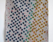 dots linen tea towel