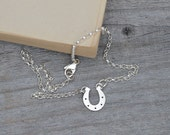 horseshoe bracelet anklet with personalized message in solid sterling silver, lucky horseshe bracelet anklet for her, hamdade in England