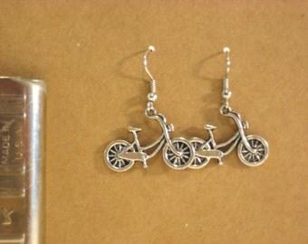 cruiser bicycle charm earrings