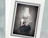 Greeting Card  - Girl And Moths - Me, Myself & I