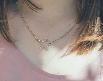Simple Star necklace. Gold star necklace, delicate gold necklace, simple star necklace, small gold star. minimalist star necklace