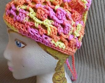 Neck Kerchief, Tie On Bonnet, USA Grown Cotton Spring SHOP EVENT