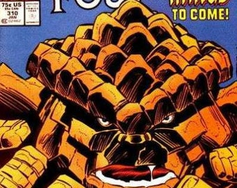 1961 Series #310 Fantastic Four Comic Book in Vf-Nm Condition