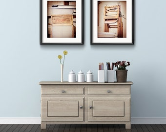 Bathroom Photography Set, Laundry Room, Wash Room, Set of 2, Bathroom Art, Vintage Laundry, Farmhouse Chic Style, Art Prints, Wall Decor