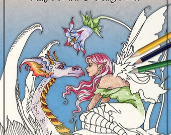 Coloring Book #5 Fairy Fantasy by Amy Brown
