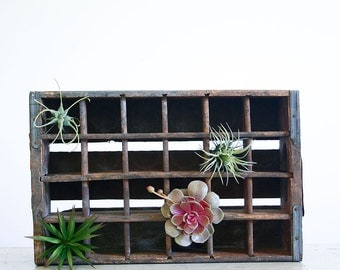 Vintage Soda Crate / Industrial Decor / Repurposed Planter Box / 7up Los Angeles
