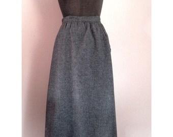 Vintage  Charcoal Gray Wool Skirt