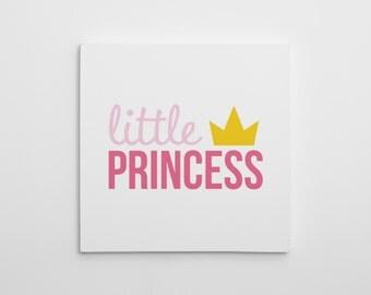 Princess/Prince Canvas Print, Nursery Princess Canvas Art, Princess Nursery Decor, Nursery Art Print, Prince Wall Art, Prince Nursery Decor