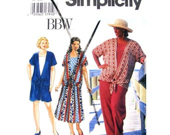 Tied Top, Skirt, Shorts, Pants Sewing Pattern Simplicity 9537 Women Plus Size 26 to 32