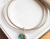 Commission Order for IH  enamelled charm bangles