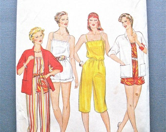 1970s or early 80s Butterick 4302 Vintage Sewing Pattern Misses Jacket, Jumpsuit Sash unlined jacket dropped shoulders Bust 30.5 31.5 32.5