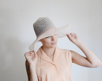 1970s Light Pink Floppy Sunhat