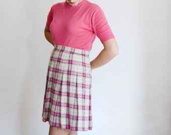 Hot Pink Tycora 1950s/1960s Short Sleeve Sweater - S