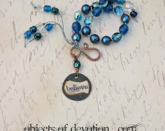 BELIEVE * Religious Jewelry * Believe Bracelet * Christian Gift * Religious Bracelet * Christian Jewelry * Religious Gift * Hand Knotted *
