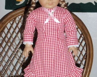 1800s Prairie Pioneer Dress for American Girl Kirsten Marie Grace Cecile Addy 18 inch doll