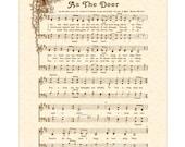 AS THE DEER - Hymn Art - Custom Christian Home Decor - VintageVerses Sheet Music - Inspirational Wall Art - Natural Parchment - Sepia Brown